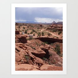 Red Land Art Print
