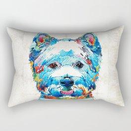 Colorful West Highland Terrier Dog Art Sharon Cummings Rectangular Pillow