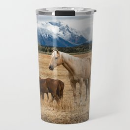 Mountain Horse - Western Style in the Grand Tetons Travel Mug