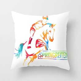 Springreiten Throw Pillow
