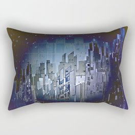 Walls in the Night - UFOs in the Sky Rectangular Pillow