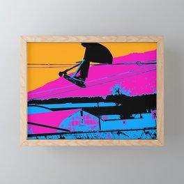 Tail Grabbing High Flying Scooter Framed Mini Art Print