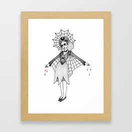spider witch Framed Art Print