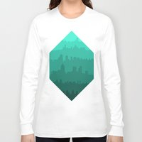 skyline Long Sleeve T-shirts featuring Skyline by Zeke Tucker