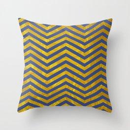 Faraoh - Golden and Blue Throw Pillow