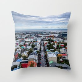 Colors of Ice Throw Pillow