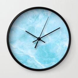 Larimar Stone Shadow Wall Clock