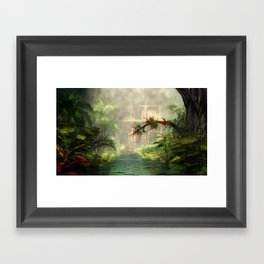 Lost City in the jungle Framed Art Print