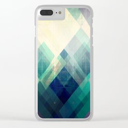 Mountains print, Abstract print, geometric wall art, abstract mountain, minimalist art, modern art, Clear iPhone Case