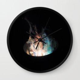 Blue Flames // Wall Clock