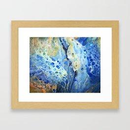 Ocean Breeze Meets Falls Beauty Framed Art Print