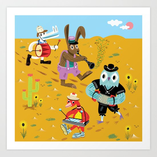 The Animal Jamboree Art Print