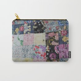 Patchwork Fabric squares Carry-All Pouch