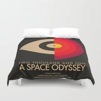 2001 Duvet Covers featuring Stanley Kubrick - 2001: A Space Odessey by MathiasLaustrup