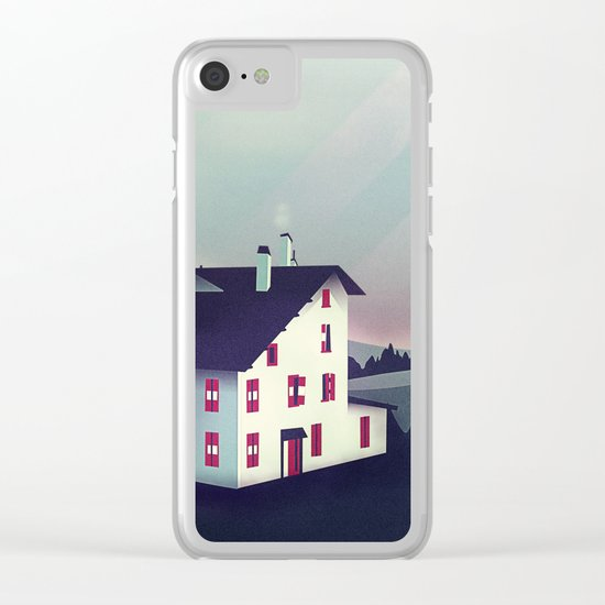 Castle in the Mountains Clear iPhone Case