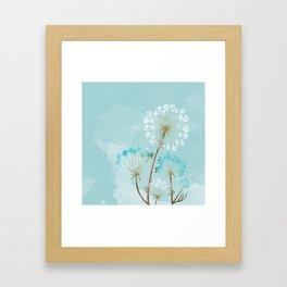 Turquesa Framed Art Print