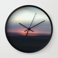 utah Wall Clocks featuring Utah Skies by Sophie Pellegrini