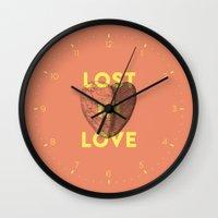 Lost in love Wall Clock