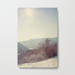 Mountains in the background II Metal Print