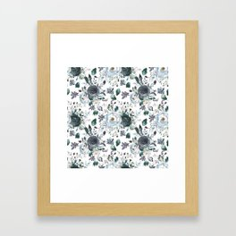 Azul are you with me? Framed Art Print