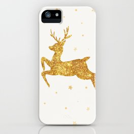 Golden Deer iPhone Case