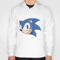 video games Hoodies featuring Triangles Video Games Heroes - Sonic by s2lart