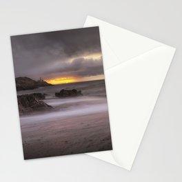 Stormy sunrise at Bracelet Bay Stationery Cards