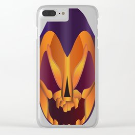 The face of Halloween Clear iPhone Case