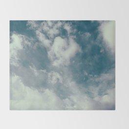 Soft Dreamy Cloudy Sky Throw Blanket