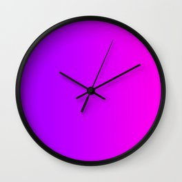 Purple To Pink Gradients Wall Clock