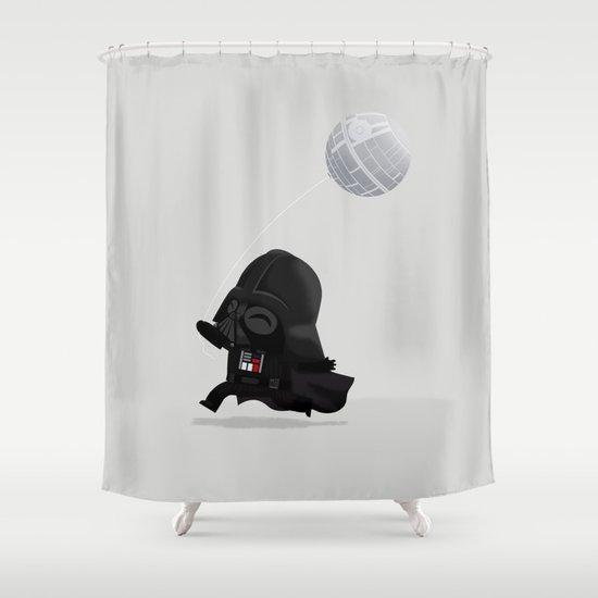 Beware, the Darth Star Shower Curtain