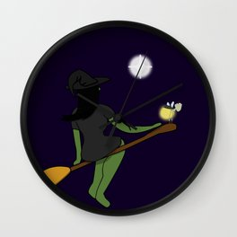 The Witch and The Frog Wall Clock