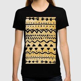 Loose bohemian pattern - yellow T-shirt