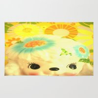 poodle Area & Throw Rugs featuring sunshine poodle by Vintage  Cuteness