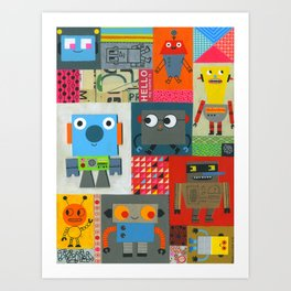 FIXIT BOTS Art Print