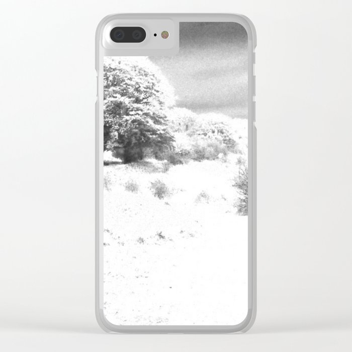 Haresfield In The Snow Clear iPhone Case