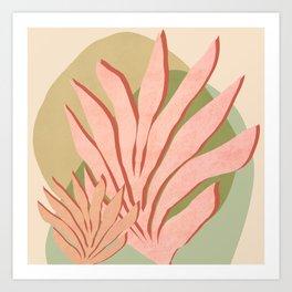 Pink Sea grass - Shapes and Layers no.37 Art Print