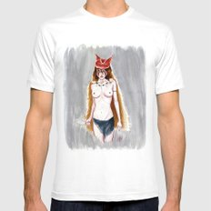 The Wolf Princess MEDIUM White Mens Fitted Tee