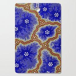 Aboriginal Art Authentic – Water Wetlands Cutting Board