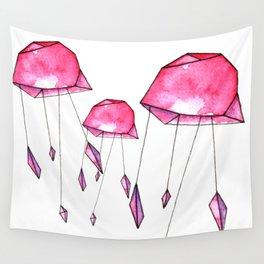 Geometric jellyfish Wall Tapestry