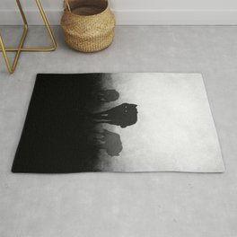 Black and White Wolfpack Rug