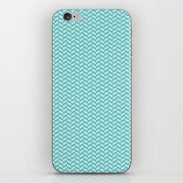 Aqua Herringbone iPhone Skin