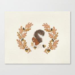 Pumpkin Spice Squirrel Canvas Print
