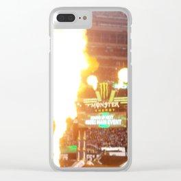 MX Supercross Explosive Fire Clear iPhone Case