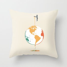 Fill your world with colors Throw Pillow