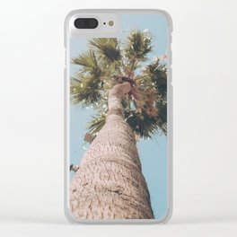 palm springs palm tree Clear iPhone Case