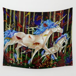A Romp in the Autumn Dusk Wall Tapestry