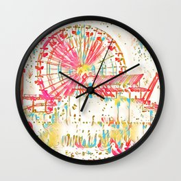 Santa Monica Pier - Art Wall Clock