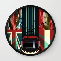 rush Wall Clocks featuring Rush by milanova