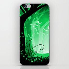 Dark Forest at Dawn in Emerald iPhone Skin